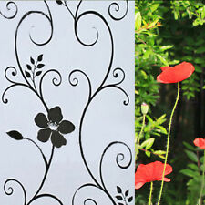 2M Vine Privacy Glass Window Film Sticker Frosted Stained Geometric