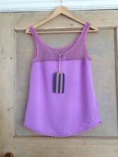 JACK WILLS SIZE 8 top PURPLE Lace BNWT RRP £49.50