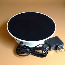 1.5KG Loading 20cm Rotating Display Base Stand Turntable White Base Black Top