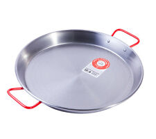 38cm Polished Steel Paella Pan La ideal Spain