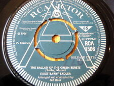 "STAFF SGT. BARRY SADLER - THE BALLAD OF THE GREEN BERETS   7"" VINYL PROMO"