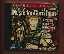 Music For Christmas BBC CD Europe Maasalo Tallis Bach Verrijt Weyse Gade  st4.17