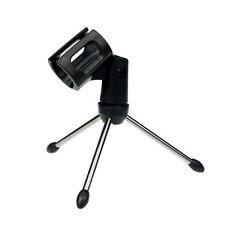 Modern Adjustable Metal Desk Top Mic Microphone Clamp Clip Holder Stand Tripod