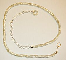 VINTAGE STYLE 'GOGO' DISCO BELT OR CHUNKY NECKLACE SILVER TWIST WITH CHIN & RING