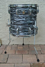 "RARE!!! LUDWIG CLASSIC BLACK OYSTER PEARL 14"" FLOOR TOM for YOUR DRUM SET! #V117"