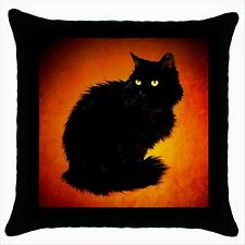 NEW* HOT PRETTY  BLACK CAT Quality Black Cushion Cover Throw Pillow Case D03