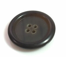 """Org Burberry Replacement Dark Brown Front Button for Tweed Coat Jacket 1.08"""""""