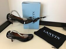 Lanvin Ballet Ladies Kitten Heels, Uk 5.5 Eu38.5 Black Patent Leather RRP £315