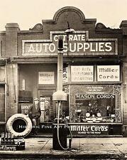 CUT RATE AUTO PARTS STORE VINTAGE PHOTO OIL OLD PUMP 1920s 8x10 #20320
