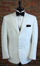 MENS 60 R WHITE SLIM FIT DINNER JACKET  TUXEDO RIO by PERRY ELLIS