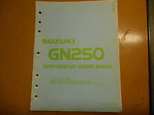 1988 Suzuki GN250 GN 250 Supplementary Service Manual 99501-32040-03E