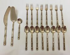 19-Piece Solid Nickel Bronze Flatware BAMBOO Pattern, Thailand (RF530)