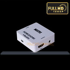 NEW HDMI input mini HDMI2HDMI audio converter 3.5mm jack output for headphone UK