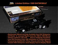 Limited 1989 BATMOBILE  (ALL PLASTIC) ea Serialized w Custom Display Box & Stand