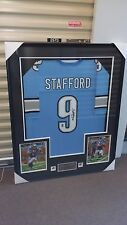 Detroit Lions Signed Stafford Jersey Glass Frame BRAND NEW
