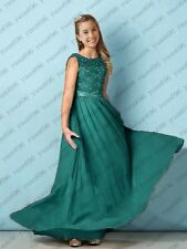New Junior Flower Girl Dresses Princess Prom Party Bridesmaid Dresses 2-16 Years