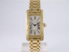 Elegante reloj Cartier Tank americaine 750er 18k dorado Quartz 1710