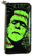 BANNED FRANKENSTEIN MONSTER HORROR SKULL WALLET PURSE TATTOO PSYCHOBILLY PUNK
