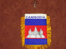 "CAMBODIA FLAG MINI BANNER 4""x6"" CAR WINDOW MIRROR NEW"
