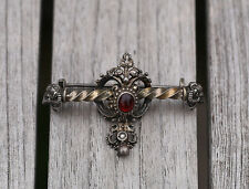 ANTIQUE SILVER AUSTRO HUNGARIAN BROOCH