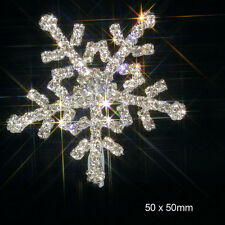 10 LARGE SNOWFLAKE RHINESTONE DIAMANTE EMBELLISHMENT IDEAL FOR WINTER WEDDINGS