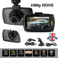 "UK Latest 1080P HD 2.7"" LCD Car DVR Camera Dash Cam Video Recorder Night Vision"