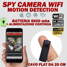 Spy Camera Spia WIFI HD MOTION DETECTION TELECAMERA MICRO NASCOSTA MICROCAMERA