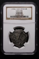 SAO JOSE SHIPWRECK COIN 1556-1622 4 REALES SPANISH MINT NGC CERTIFIED GENUINE