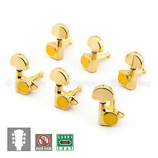 NEW Gotoh SG301-20 Tuners 3+3 Tuning Keys Grover Style Vintage Button 3x3 - GOLD
