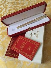 CARTIER VINTAGE 925 STERLING SILVER VENDOME BALL POINT PEN NEW OLD STOCK