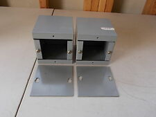 """Lot of 2 4"""" x 4"""" x 4"""" Enclosure Boxes, with Covers *FREE SHIPPING*"""