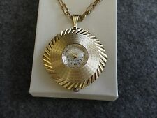 Westclox 17 Jewels Necklace Pendant Wind Up Watch with a Second Hand