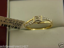 ENGAGEMENT DIAMOND RING 10K YELLOW GOLD 0.25 TCW DIAMOND SZ 7.25.
