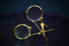 Steampunk-Cosplay-Gothic-Whitby-DOUBLE MAGNIFYING BRASS EFFECT DUEL LOUPE