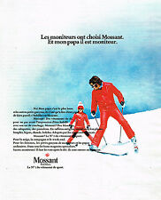 PUBLICITE ADVERTISING 014   1973   MOSSANT  vetement de sport de ski 2