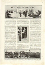 1915 WWI PRINT ~ SOLDIERS ON CRUTCHES ~ STOWE TUNNEL RAILWAY ACCIDENT ~
