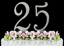 NEW Large Rhinestone  NUMBER (25) Cake Topper 25th Birthday Party Anniversary