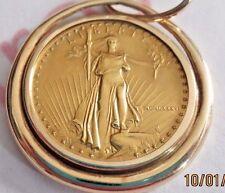 PENDANT - 1986 $10 DOLLAR GOLD EAGLE 1/4 OUNCE. Sku ED