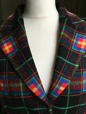 Unique COSTELLOE 100% new Zealand wool multicolour jacket made in Italy UK14