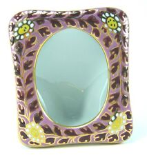 PICTURE FRAME GIFT THAI BENJARONG PORCELAIN POTTERY HANDCRAFT PINK LIMITED
