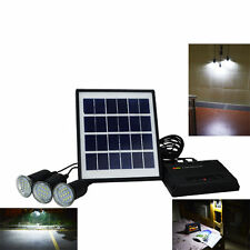 Outdoor Solar Power System Power bank With 3x Bulbs For Camping Hiking Fishing