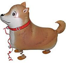 SHIBA INU WALKING BALLOON FOIL HELIUM PET PARTY BIRTHDAY BROWN PUPPY AIR DOG NEW