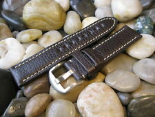 22 mm Hadley Roma MS2036 Brown Calf Tanned Leather Watch Band strap USA Made!