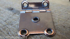 "1 x PAIR 3/8"" CRANKET CABINET HINGE BRONZE PLATED CODE 72 RETRO CUPBOARD DOOR"