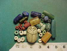 30+ Ancient beads circa 1000 BC- 700 AD +  Egyptian  scarab  amulet