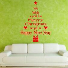 Christmas Trees Letters Stick Wall Art Decal Mural Decor Wall Sticker Home Décor