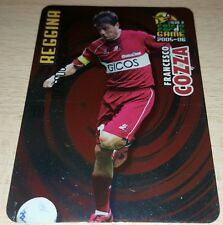 CARD CALCIATORI PANINI 2005-06 REGGINA COZZA CALCIO FOOTBALL SOCCER ALBUM