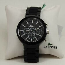 NEW AUTHENTIC LACOSTE BORNEO BLACK  CHRONOGRAPH MEN'S 2010771 WATCH