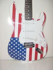 New Full Size S Style 6 String  US  Flag Electric Guitar with Gig Bag