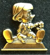Disney Pin PINOCCHIO JIMINY CRICKET PASSHOLDER 2016 MK Statue + 45th WDW Poster